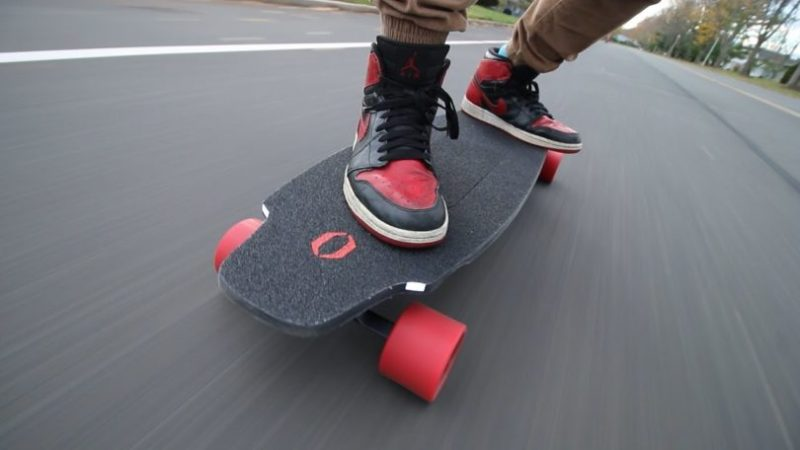 Electric Longboard on the road